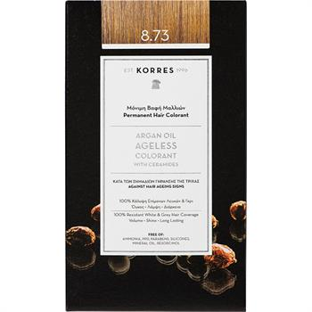 Korres Argan Oil Ageless Colorant 8.73 Μόνιμη Βαφή Μαλλιών Χρυσή Καραμέλα 50ml