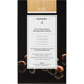 Korres Argan Oil Ageless Colorant Νο 9.73 Μόνιμη Βαφή Μαλλιών Χρυσό Κάστανο 50ml