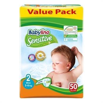 Babylino Sensitive Value Pack Mini Nο.2 (3-6 kg)  Απορροφητικές & Πιστοποιημένα Φιλικές Βρεφικές Πάνες 50τμχ