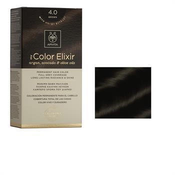 Apivita Color Elixir Βαφή Μαλλιών Καστανό 4.0