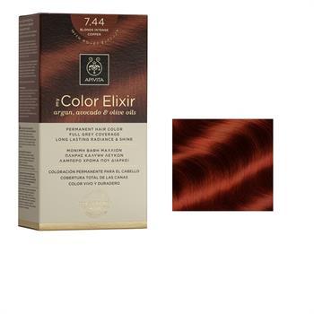 Apivita Color Elixir Βαφή Μαλλιών Ξανθό Έντονο Χάλκινο 7.44