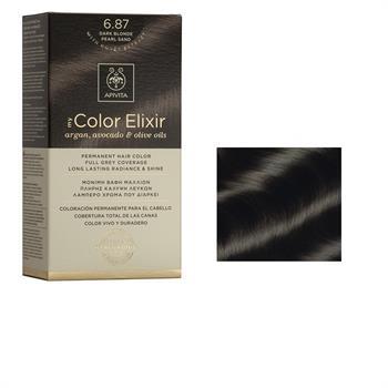 Apivita Color Elixir Βαφή Μαλλιών Ξανθό Σκούρο Περλέ Μπεζ 6.87