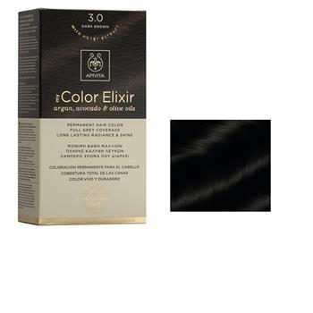 Apivita Color Elixir Βαφή Μαλλιών Καστανό Σκούρο 3.0