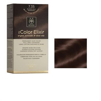 Apivita Color Elixir Βαφή Μαλλιών Ξανθό Μελί Μαονί 7.35