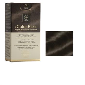 Apivita Color Elixir Βαφή Μαλλιών Ξανθό Περλέ 7.8
