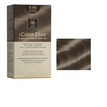 Apivita Color Elixir Βαφή Μαλλιών Ξανθό Ανοιχτό Έντονο Περλέ 8.88