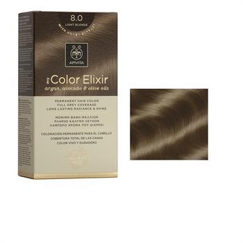 Apivita Color Elixir Βαφή Μαλλιών Ξανθό Ανοιχτό 8.0