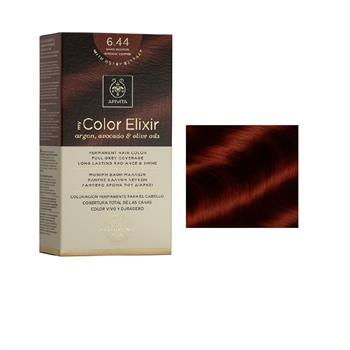 Apivita Color Elixir Βαφή Μαλλιών Ξανθό Σκούρο Έντονο Χάλκινο 6.44