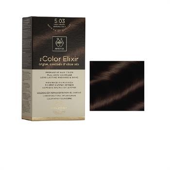 Apivita Color Elixir Βαφή Μαλλιών Καστανό Ανοιχτό Φυσικό Μελί 5.03