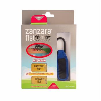 Zanzara Flat Εντομοαπωθητικό Μπρελόκ Χρώμα: Μπλε με 2 ταμπλέτες 1τμχ