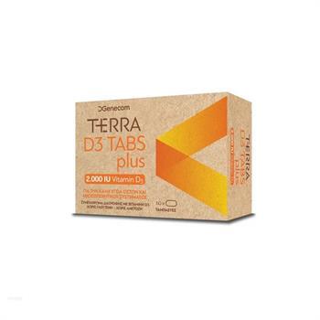 Genecom Terra D3 Plus 2000IU Vitamin D3 για την Καλή Υγεία των Οστών & Ανοσοποιητικού Συστήματος 60tabs