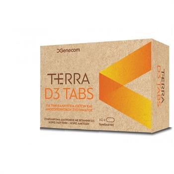 Genecom Terra D3 Tabs Συμπλήρωμα Διατροφής με Βιταμίνη D3 60tabs