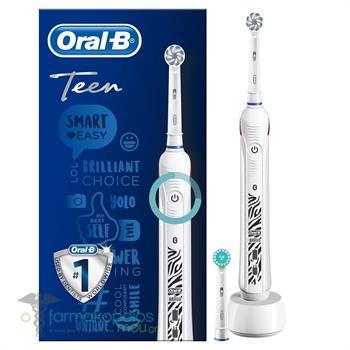 Oral-B Teen White Smart Coaching Ηλεκτρική Οδοντόβουρτσα