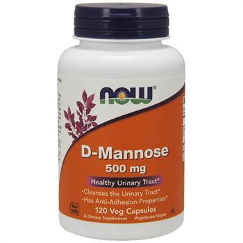 Now Foods D-Mannose Συμπλήρωμα Διατροφής για το Ουροποιητικό 500mg 120caps