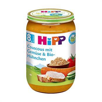 HiPP Organic Βρεφικό Γεύμα με Κουσκούς Λαχανικά Κοτόπουλο 220gr