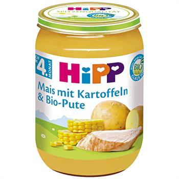 HiPP  Βρεφικό Γεύμα με Βιολογικό Kαλαμπόκι Πατάτες και Οργανική Γαλοπούλα 190gr