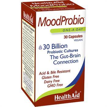 Health Aid MoodProbio 30caps Προβιοτικά Στελέχη Για Εγκεφαλική & Εντερική Λειτουργία