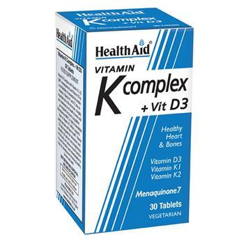 Health Aid Vitamin K Complex+D3 Συμπλήρωμα Διατροφής Για Τα Οστά 30tabs