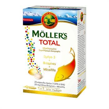 Moller's Total Ολοκληρωμένο Συμπλήρωμα Διατροφής 28caps+28tabs