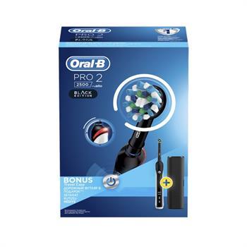 Oral-B PRO2 2500 Black Edition με ΔΩΡΟ Θήκη Ταξιδίου