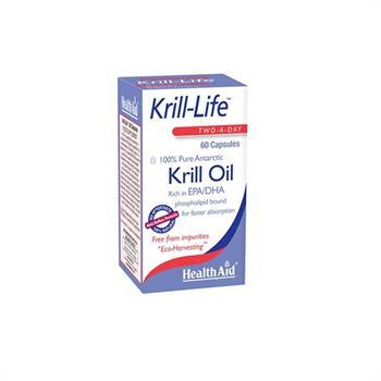 Health Aid Krill Life 100% Pure Antarctic Oil 500mg 60caps