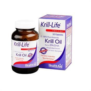 Health Aid Krill Life 100% Pure Antarctic Oil 500mg 90caps