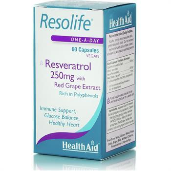 Health Aid Resolife Φυσική Ρεσβερατρόλη 250mg 60caps