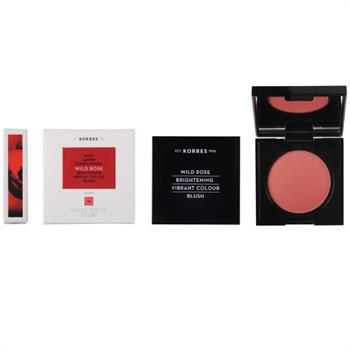 Korres Wild Rose Brightening Vibrant Colour Blush No.46 Bright Coral 5.5gr
