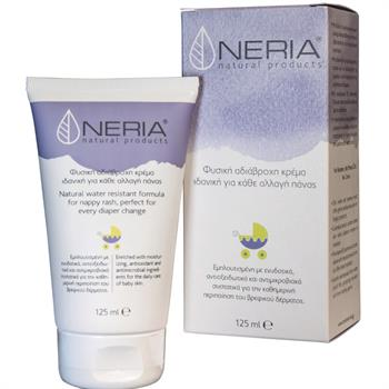Neria Natural Products Φυσική Αδιάβροχη Κρέμα Για Κάθε Αλλαγή Πάνας 125ml
