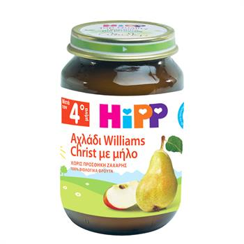 HiPP Βρεφική Φρουτόκρεμα με Αχλάδι Williams Christ & Μήλο 190gr