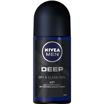 Nivea Men Deep Deodorant Anti-Perspirant Roll On 50ml