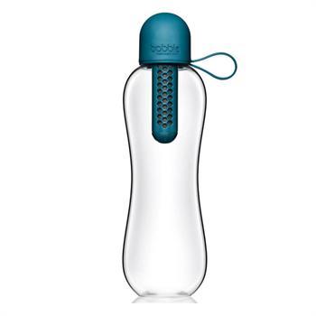 Bobble Infuse Peacock, Μπουκάλι Νερού Με Φίλτρο Άνθρακα, Μπλέ Ραφ - 590ml