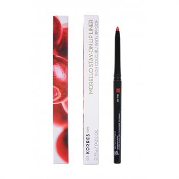 Korres Morello Stay-On Lip Liner Rich Colour Waterproof No02 Real Red 0,35gr