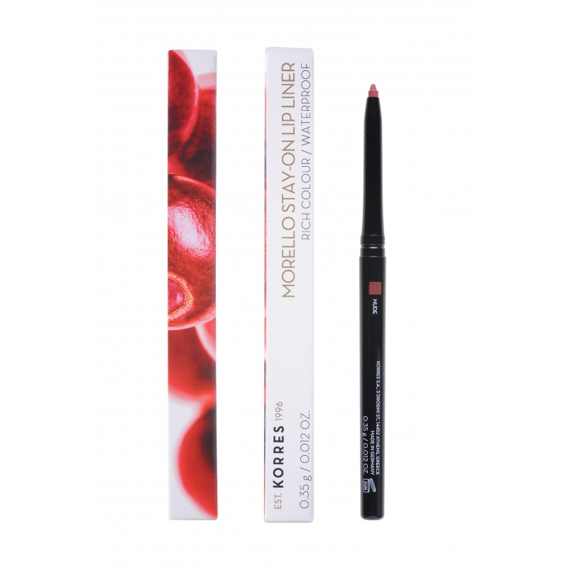 Korres Morello Stay-On Lip Liner Rich Colour Waterproof No01 Nude 0,35gr