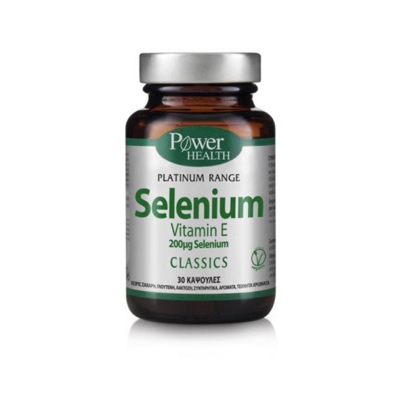 Power Health Classics Platinum Range Selenium Vitamin E Σελήνιο και Βιταμίνη Ε 200mg 30caps