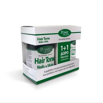 Power Health Classics Platinum Range Hairtone, Nails & Skin 30caps & Δώρο Μαγνήσιο Mg 10 Αναβράζοντα Δισκία