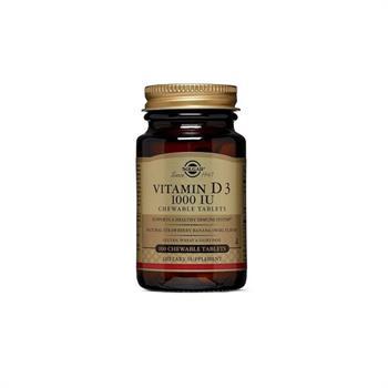 Solgar Vitamin D3 1000 IU 100 Chewable Tabs