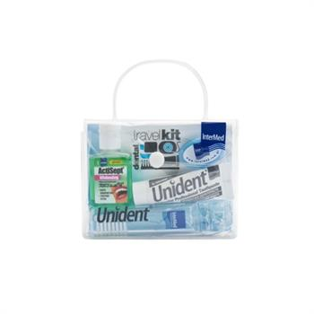 Intermed Dental Travel Kit: Whitening Toothpaste 10ml & Anticept Whitening 20ml & Οδοντόβουρτσα