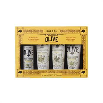 Korres Set Pure Greek Olive Αφρολουτρο 40ml & Κρέμα Σώματος 40ml & Βάλσαμο Σώματος 40ml & Κρέμα Χεριών 40ml