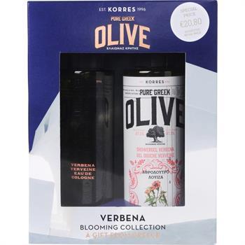 Korres Set Pure Greek Olive Αφρόλουτρο Λουίζα 250ml & Pure Greek Olive Κολόνια Άνθη Λουίζας 100ml