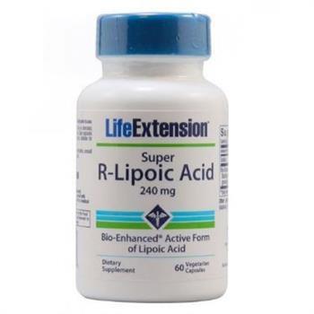 Life Extension Super R Lipoic Acid 240mg 60 vegicaps