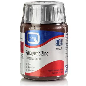 Quest Synergistic Zinc & Copper 15mg 90tabs