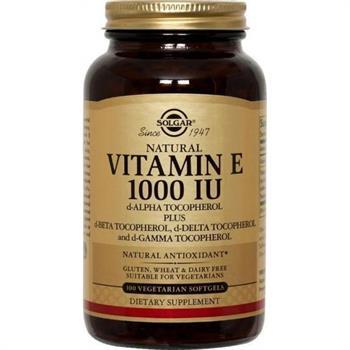 Solgar Vitamin E 1000IU 100softgels