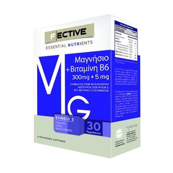 F Ective Μαγνήσιο 300mg & Βιταμίνη Β6 30tabs