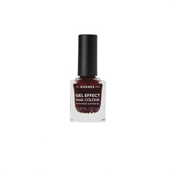 Korres Gel Effect Nail Colour No 57 Burgundy Red 11ml