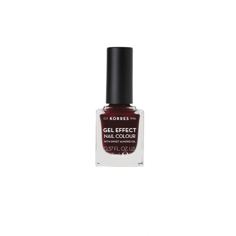 Korres Gel Effect Nail Colour No 57 Burgundy Red 11ml