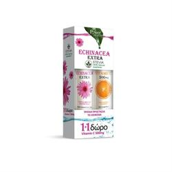 Power Health Echinacea Extra με Στέβια 24 αναβράζοντα δισκία & Vitamin C 500mg Πορτοκάλι 20 αναβράζοντα δισκία