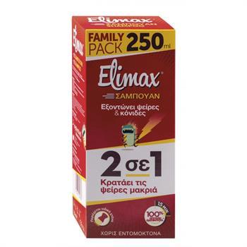 Elimax Αντιφθειρικό Σαμπουάν 2 σε 1 Family Pack 250ml