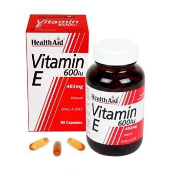 Health Aid Vitamin E 600iu Natural 60caps