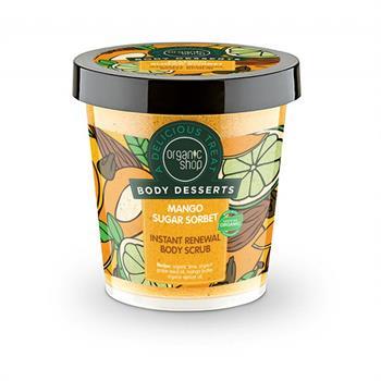 Natura Siberica Body Desserts Mango Sugar Sorbet Μάνγκο & Ζάχαρη Απολεπιστικό σώματος άμεσης ανανέωσης 450ml